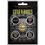 Guns N Roses button set - Bullet logo_