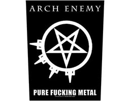 Arch Enemy back patch 'Pure Fucking Metal'