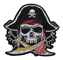 back patch 'Pirate Skull'