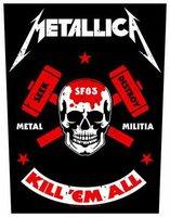 Metallica back patch 'Metal Millitia'