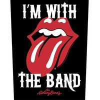 The Rolling Stones back patch 'I'm With the Band'