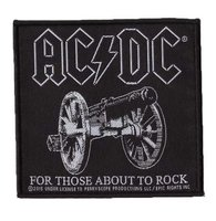AC/DC patch 'For Those About To Rock' (z/w)