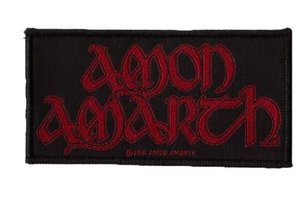 Amon Amarth patch - Red Logo