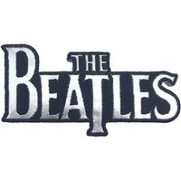 The Beatles patch 'Drop T logo - silver' (iron on)