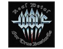 Wolf patch 'Real metal for true bastards'