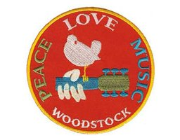Woodstock iron-on patch - Peace Love Music