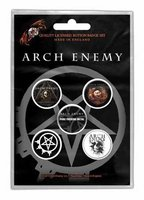 Arch Enemy button set 'Will to power'