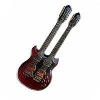 Double neck elektrische gitaar speldje