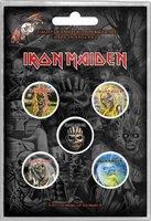 Iron Maiden button set 'Faces of Eddie'
