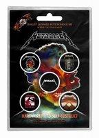 Metallica button set 'Hardwired to self destruct'