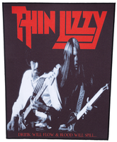 Thin Lizzy back patch 'Drink will flow'