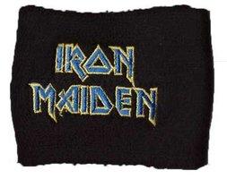 Iron Maiden zweetbandje 'blauw logo'