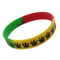 Rasta cannabis rekbare armband