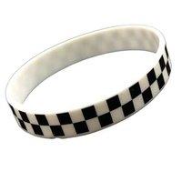 SKA geblokte rekbare armband