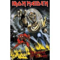Iron Maiden textielposter 'Number of the beast'