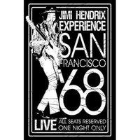 Jimi Hendrix textielposter 'San Francisco 68'
