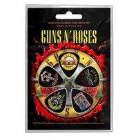 Guns N' Roses plectrum set 'Bullet logo'