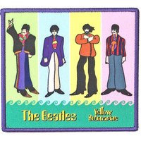 The Beatles patch Yellow Submarine band stripes