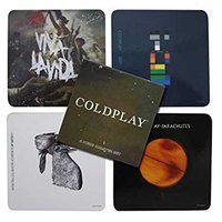 Coldplay onderzetters cadeau set