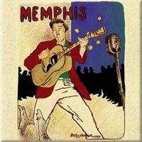 Elvis Presley magneet - Memphis