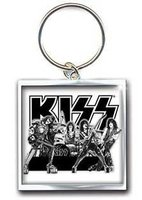 Kiss sleutelhanger - Graphite band