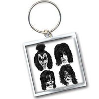Kiss sleutelhanger - Graphite faces