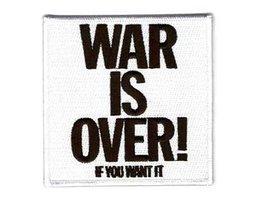 John Lennon patch 'War is over'