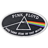 Pink Floyd patch - Dark Side oval logo (witte rand)