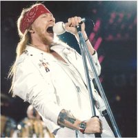 Guns N Roses wenskaart - Axl Rose