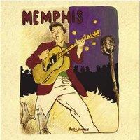 Elvis Presley wenskaart - Memphis