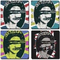 Sex Pistols onderzetters cadeau set - Queen