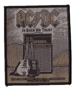 AC/DC patch 'In Rock We Trust'