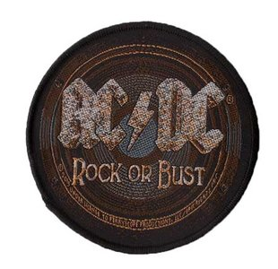 AC/DC patch 'Rock or Bust'