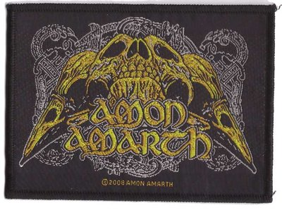 Amon Amarth patch - Raven Skull