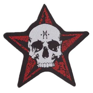 Biker patch 'Red Star Skull'