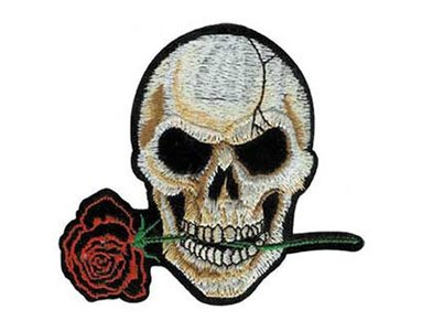 Biker patch 'Skull and Rose'