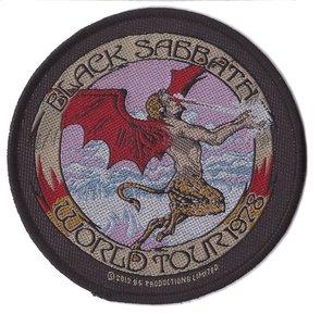 Black Sabbath patch 'World tour 78'