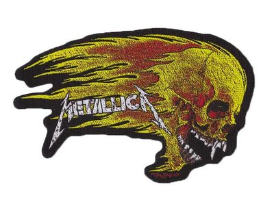 Metallica patch 'Flaming Skull'