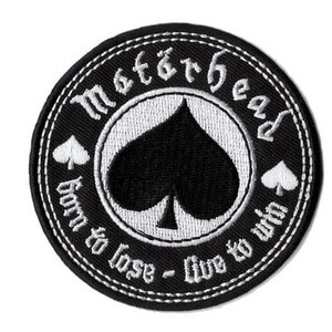 Motorhead patch 'Born to lose  - Live to win' (iron-on)