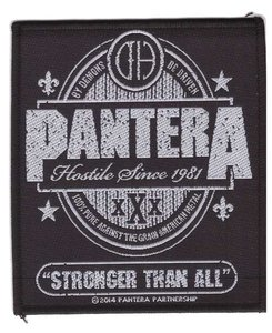 Pantera patch 'Stronger than all'