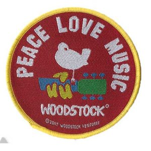 Woodstock patch - Peace Love Music