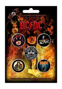 AC/DC button set 'Highway To Hell'