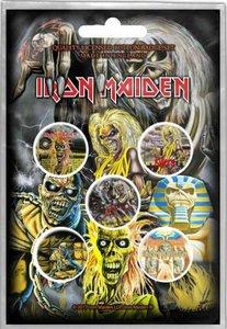 Iron Maiden button set 'Early albums'