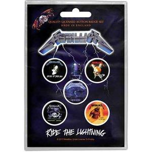Metallica button set 'Ride The Lightning'