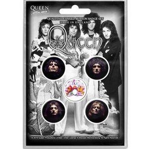 Queen button set 'Faces'