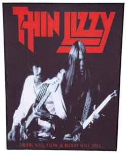 Thin Lizzy backpatch 'Drink will flow'