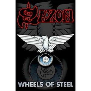Saxon textielposter 'Wheels of Steel'