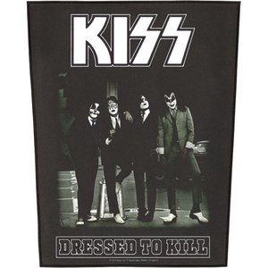 Kiss back patch - Dressed To Kill