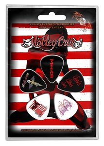 Motley Crue plectrum set - Red, White and Crue