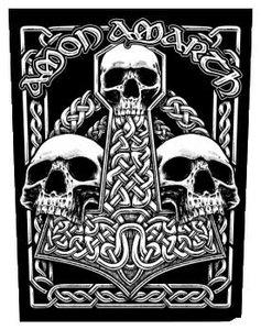 Amon Amarth backpatch - Three Skulls